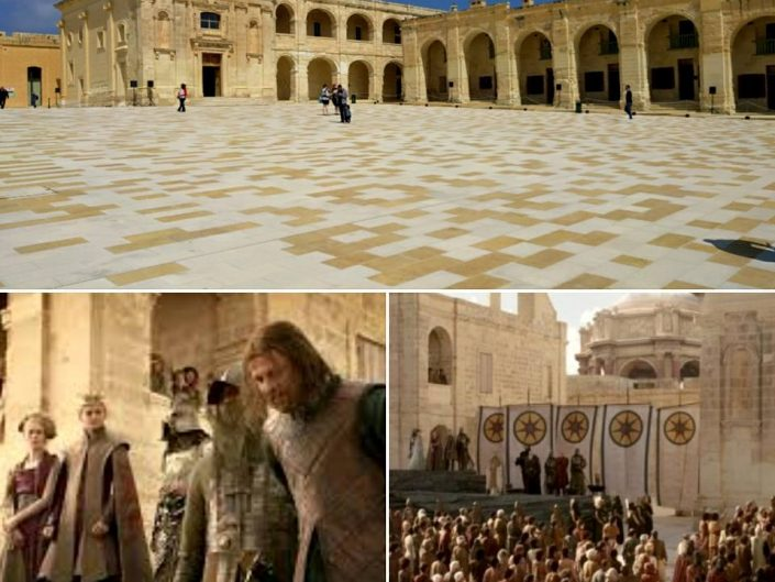 Exécution de Ned Stark, Game of Thrones, fort Manoel, Malte