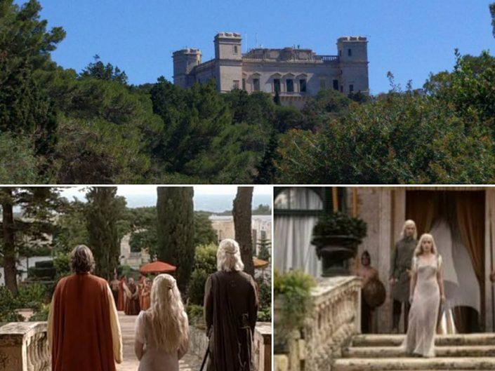 Rencontre entre Drogo et Daenerys au palais Verdala, Malte