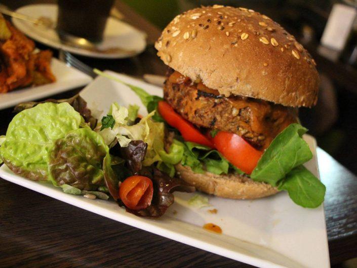 Burger vegan à The Grassy Hopper, Malte