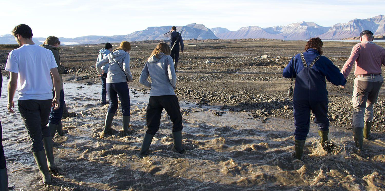 A la recherche d'eau potable dans le fjord d'Ekman