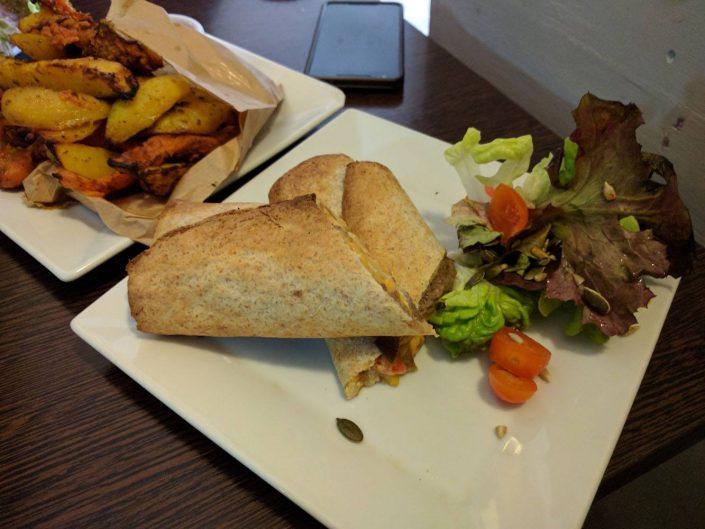 Vegan burrito à The Grassy Hopper Valletta, Malte